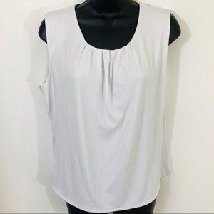 Calvin Klein White Sleeveless Top Size 14